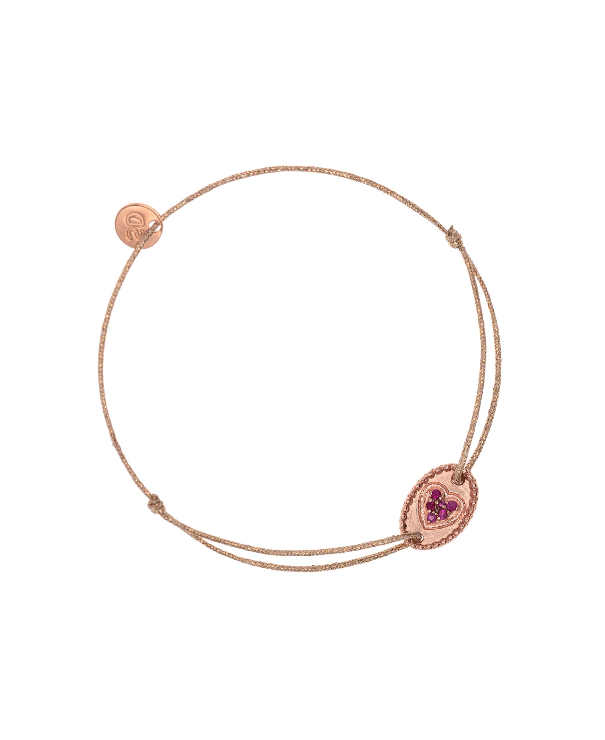 RUBY HEART Armband Rosé