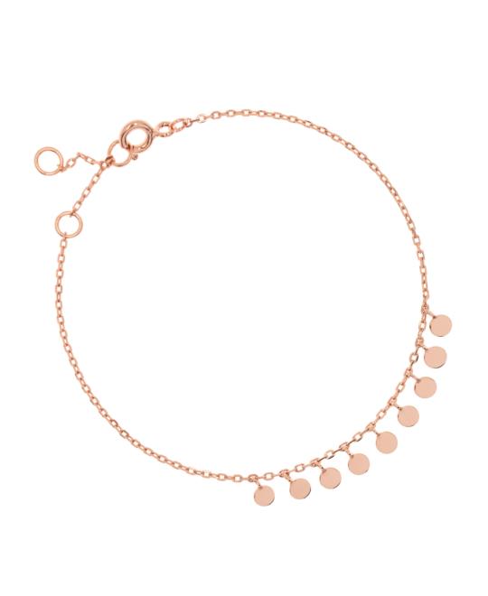 Chain silver rosevergoldet platelets