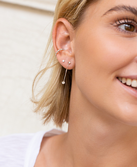 RADIANT CIRCLE  Ear Jackets Silber