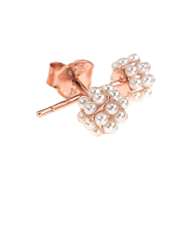 TINY PEARLS EAR STUDS ROSE