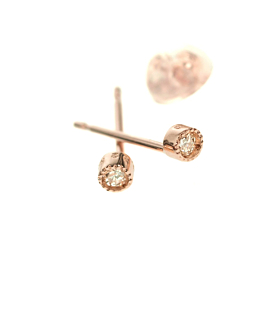 DIAMOND Ohrstecker  10K Roségold