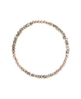 Labradorit Armband Sterling Silber rosé vergoldet