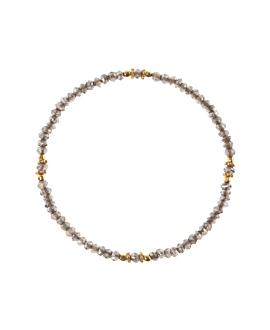 Rauchquarz Armband Sterling Silber vergoldet