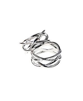 CRISS CROSS  Ring Silber