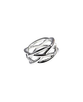 CRISS CROSS Sterling Silber Ring