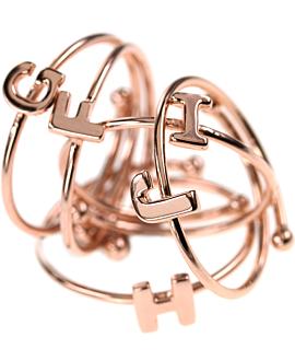 LETTERS Ring Rosé