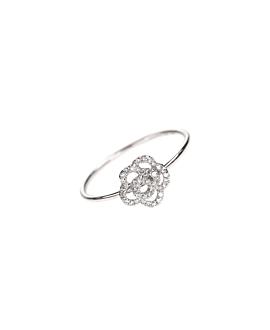 DIAMOND ROSE Ring Weißgold
