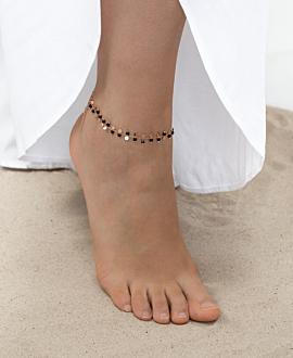 GYPSY SPINEL  Fußkette Rosé