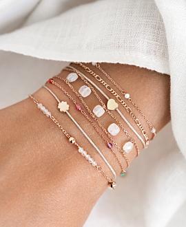 LUCKY CLOVER  Armband Silber