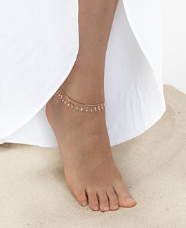 GYPSY MOONSTONE  Fußkette Rosé
