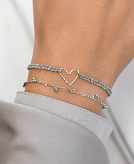 PURE LOVE  Armband Silber