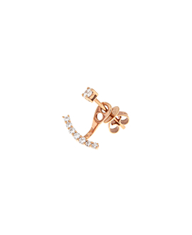 DIAMOND Ohrstecker Single 14K Roségold