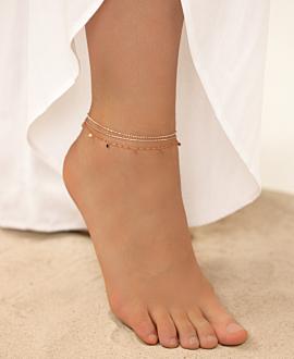 EMAILLE COLORS  Fußkette Orange