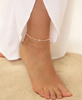 HIPPIE PEARLS  Fußband Blume
