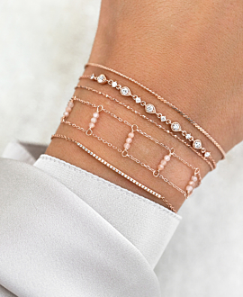 DIAMONDS Armband  14K Roségold