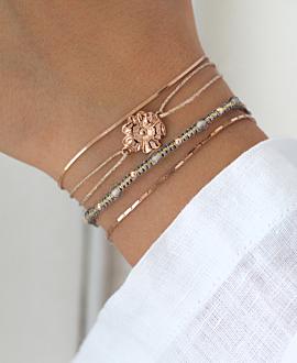 FLOWER  Armband Beige