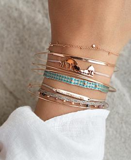 AFRICAN SKYLINE Armband Silber