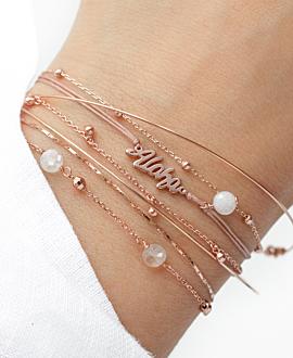 SHINY BEADS  Armband Rosé