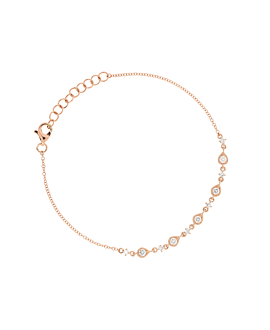 DIAMONDS Armband|14K Roségold