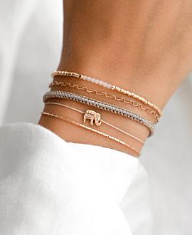 BEADS Armband Rosé