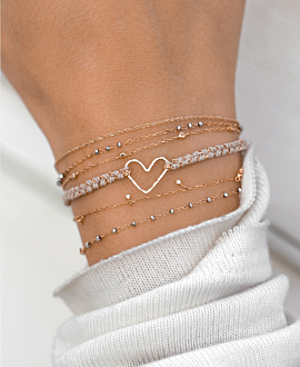 PURE LOVE  Armband Rosé