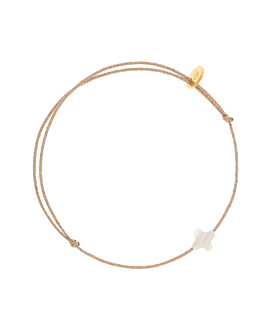 PEARLY CLOVER|Armband Beige