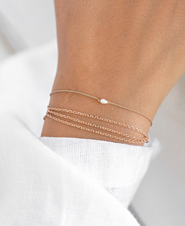TRIPLE CHAIN Armband Rosé