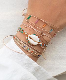 KAURI  Armband Bunt