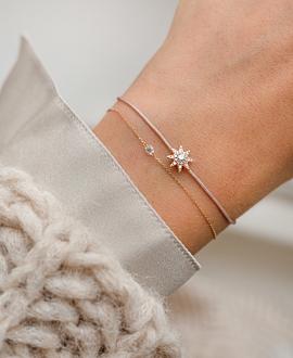 DIAMOND Armband Beige