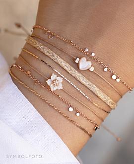 WHITE PEONY  Armband GOLD