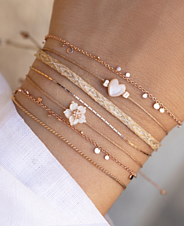 ROSE PEONY  Armband Rosé