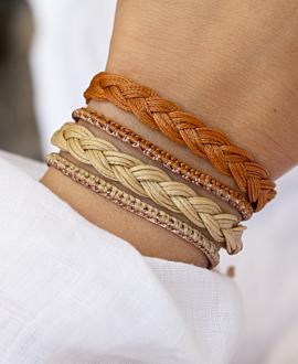 TRENZA  Armband Beige