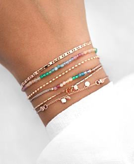 RAINBOW GEMS  Armband Silber