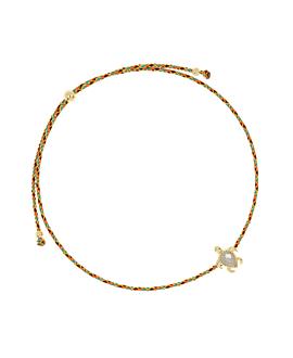 SEA TURTLE GOLD  Armband Orange