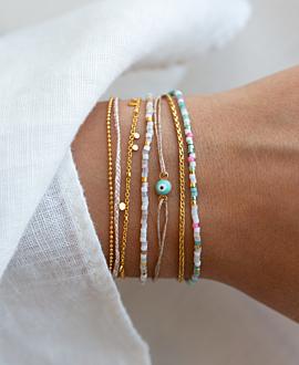 MIYUKI  Armband Türkis