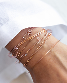 TOPAZ Armband Rosé