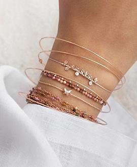 RHODONIT  Armband Rosa