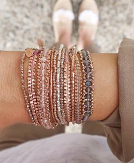 LABRADORIT  Armband Rosé