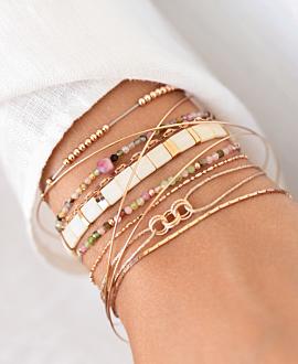 PINK TOURMALINE Armband Beige