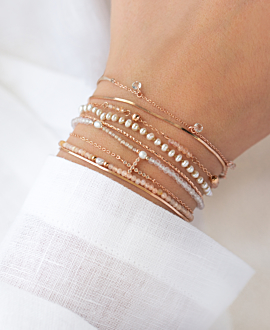 PEARLS  Armband Rosé
