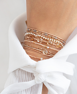 TOPAZ CHAMPAGNE  Armband Taupe
