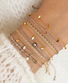 GOLDEN CLOVER  Armband Beige