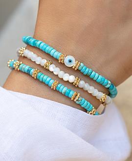 EVIL EYE  Armband Türkis