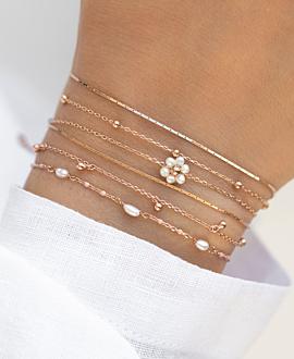 DAISY PEARLS  Armband Rosé