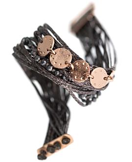 GAIA Armband Antharzit