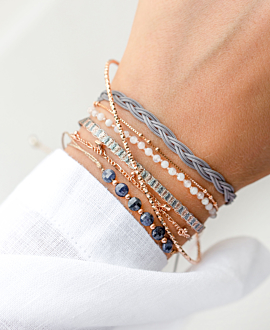 BOHEMIAN VIBE Armband Grau