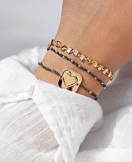 BOHO TOPAZ Armband Grau