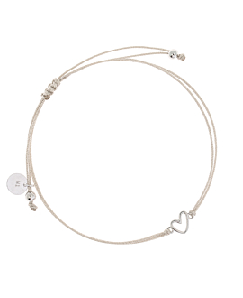 TRUE LOVE  Armband Silber