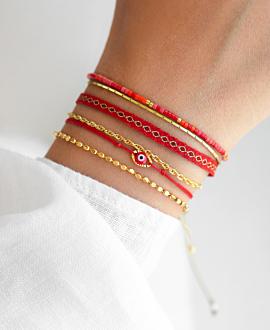 MIYUKI  Armband Rot