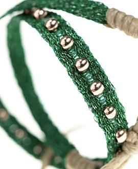 ETHNO Armband Grün